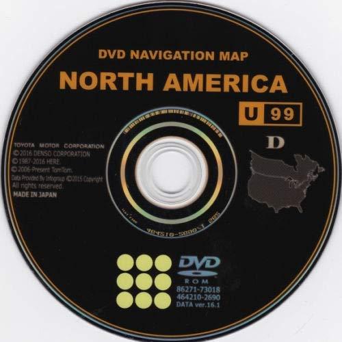 2017 Gen 5 Toyota Lexus West Navigation Map Update DVD Ver 16.1 U41