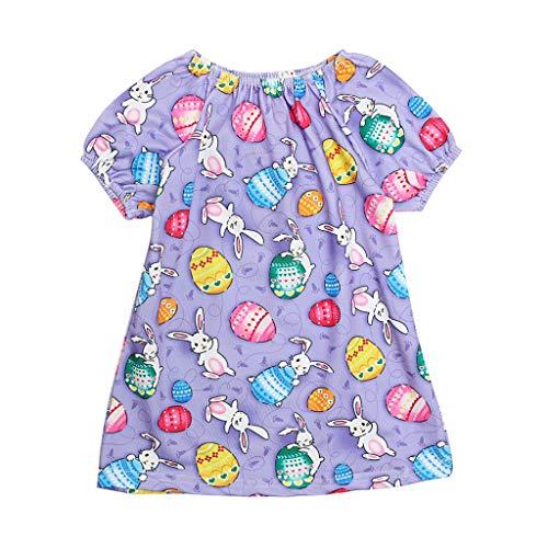 Little Story ❤❃Dresses, Toddler Infant Baby Girls Cartoon Easter Egg Rabbit Print Princess Dress Outfitsby ()