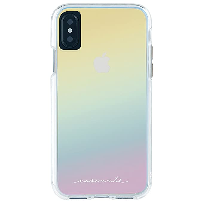 Case-Mate iPhone X Case - Naked Tough - Iridescent - Slim Protective Design - Apple iPhone 10 - Iridescent