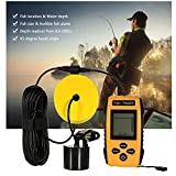 Clary Portable Fish Finder Sonar Sensor Fish Finder Transducer LCD Display (Color : Yellow)