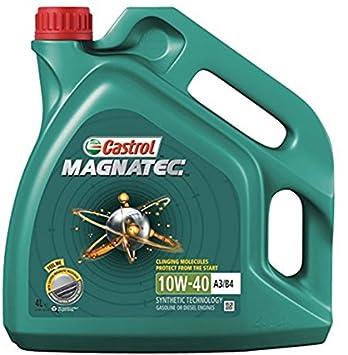 Castrol - Magnatec - 10W-40 - Aceite para motor diésel parcialmente sintético, 4 L: Amazon.es: Coche y moto