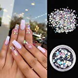 1Pcs Laser Shiny Diamond Round Ultrathin Sequins
