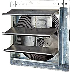 Iliving ILG8SF12V Wall-Mounted Variable Speed Shutter Exhaust Fan, 12""
