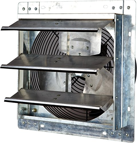 Iliving 12 Inch Variable Speed Shutter Exhaust Fan, Wall-Mounted, 12 (Aluminum Roof Mounted Vent)