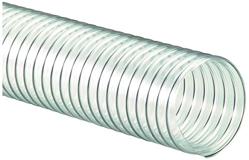 Wire Reinforced - Flexaust 8171060025 R-4 PVC Flexible Hose, 160 degrees F, 25' Length, 6