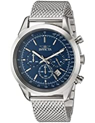 Invicta Mens Speedway Quartz Stainless Steel Casual Watch, Color:Silver-Toned (Model: 24209)