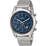 Men's 'Speedway' Quartz Stainless Steel Casual Watch, Color:Silver-Toned (Model: 24209)