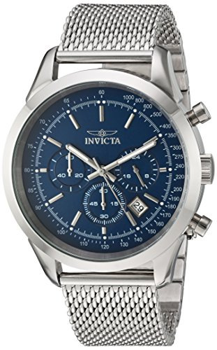 Invicta Men's Speedway Quartz Watch with Stainless-Steel Strap, Silver, 22 (Model: 24209)
