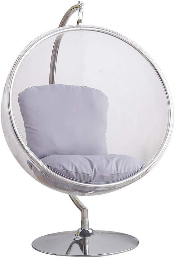 バブルチェア、透明ガラス成人屋内ハンギングバスケット、ハンギングチェア、スイング半球チェア B