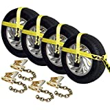 Vulcan Classic Basket Style Auto Tie Down With Adjustable Loop And Chain Tail - 3300 lbs. SWL (Pack of 4)