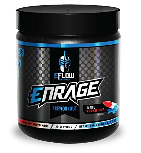 ENRAGE preworkout - ROCKET POP - Creatine, beta alanine, Citrulline, Agmatine, caffeine, energy, focus, strength, endurance, performance, pump