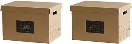 Baffect Caja de almacenamiento de cartón corrugado con tapa Caja de almacenamiento para libros cajas de
