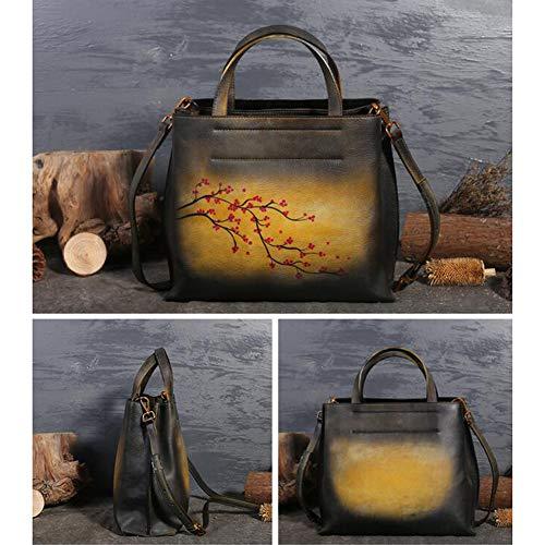 Diagonal Simple Colores Paquete Opcionales Bolso Hombro 3 Yellow Estilo En Estampado 30 Handbag 26cm Étnico blue Relieve 12 Eq0g5g