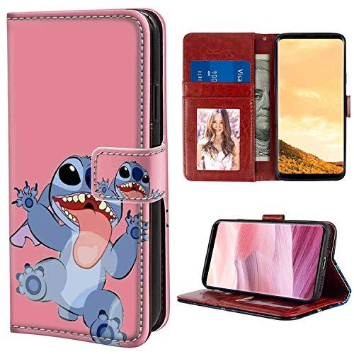 Wallet Case Fits for Samsung Galaxy S8 Plus (2017) 6.2inch Disney Wallpaper Lilo Y Stitch Tumblr Cartoon