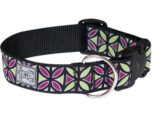 RC Pet Products 1-1/2-Inch Wide Dog  Clip Collar, Large, Berry Mojito
