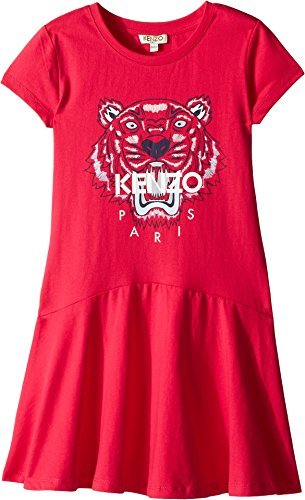 Kenzo Kids Girl's Classic Tiger Dress (Big Kids) Fuchsia 10 by Kenzo Kids