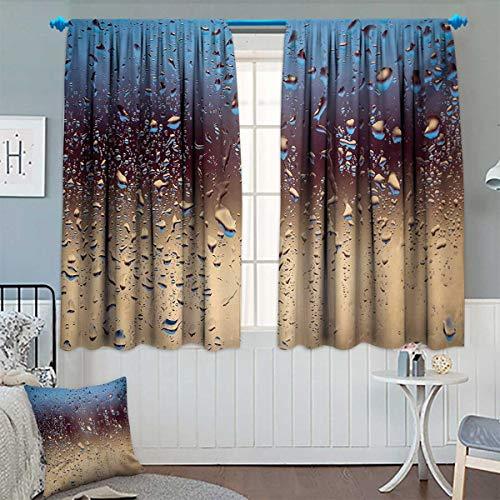 Chaneyhouse Rain Room Darkening Curtains Close Up Rain