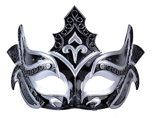 Mens Masquerade Mask Party Mask Roman Gladiator Cosplay Halloween Mask Black (Black) ()