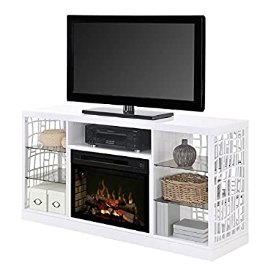 "Dimplex Charlotte 25"" Fireplace TV Stand in White"