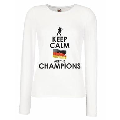 Camisetas de Manga Larga para Mujer Los alemanes Son los campeones ...
