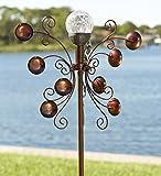 Outdoor Bronze-Colored Solar LED Garden Wind