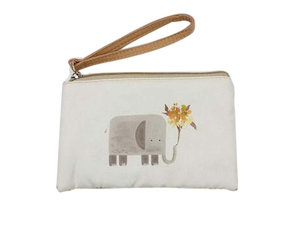 Patrón de dibujos animados bolso de móvil bolso de embrague bolso simple portátil, elefante: Amazon.es: Oficina y papelería