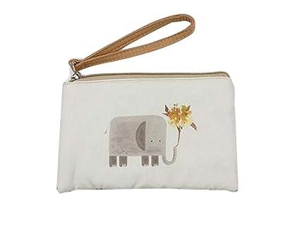Patrón de dibujos animados bolso de móvil bolso de embrague bolso simple portátil, elefante