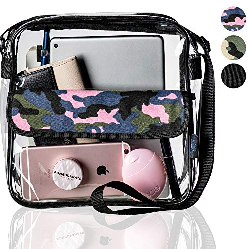 (360 DESIGN BOX Clear Stadium Bag, Camouflage Style See Through 10