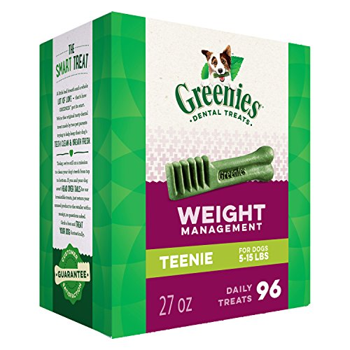 (Greenies Weight Management Teenie Dental Dog Treats, 27 Oz. Pack (96)