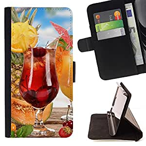 For Samsung Galaxy S3 III I9300 Fruit Macro Fruit Cocktail Style PU Leather Case Wallet Flip Stand Flap Closure Cover