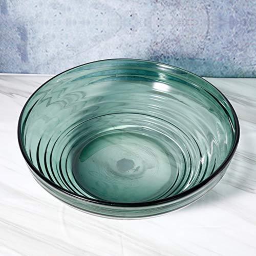 DGEG Fruit Basket, Glass Gradient Transparent Fruit Bowl Modern Garden Home Crafts Ornaments For Living Room Kitchen Dining Room (Color : Green, Size : 4314cm) from DGEG