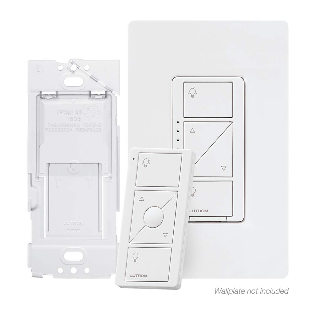 Lutron Caseta Smart Home Dimmer Switch and Pico Remote Kit, Works with Alexa, Apple HomeKit, and the Google Assistant | P-PKG1WB-WH | White by Lutron