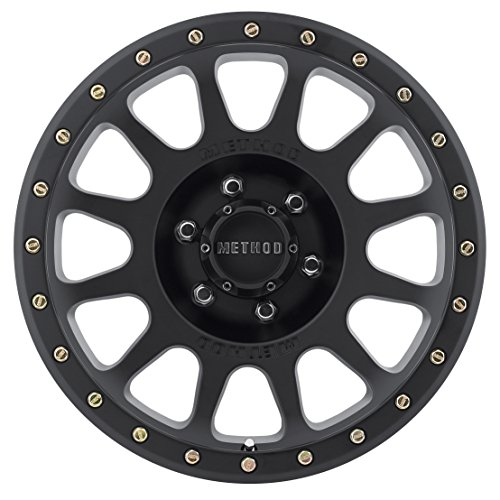 Review Method Race Wheels NV Matte Black Wheel with Zinc Plated Accent Bolts (17×8.5″/6×5.5″) 0 mm offset