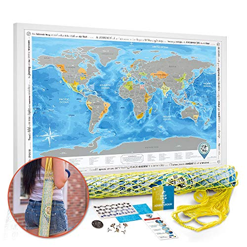 Large Detailed World Map.Scratch Off World Map Poster Silver Large Detailed World Travel