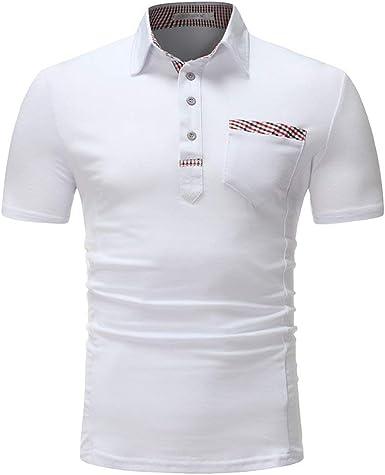 Polo Camisa De Verano Simple Estilo Solapa Delgada Blanca ...