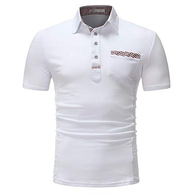 Polo Camisa De Verano Simple Estilo Solapa Polo Camisa Ropa Blanca ...