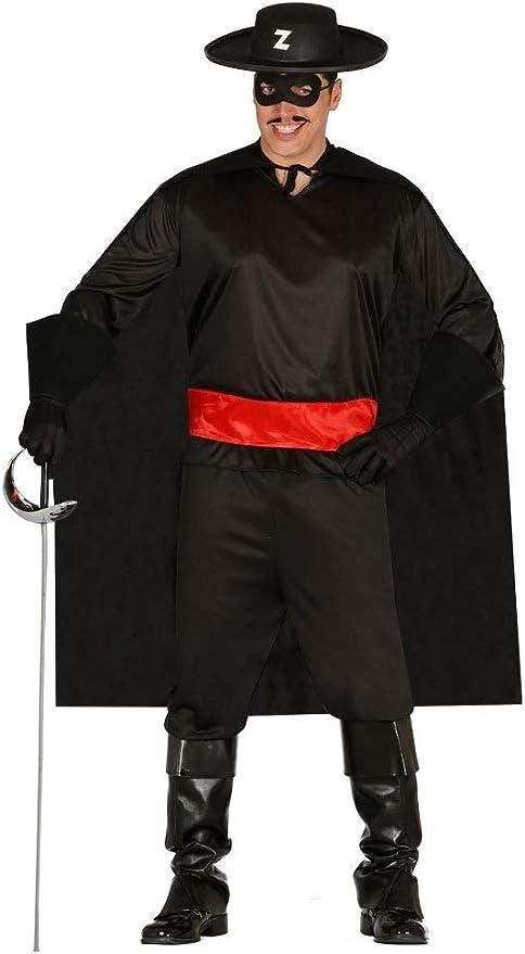 FIESTAS GUIRCA Disfraz de Zorro Adulto Hombre con máscara y Capa ...