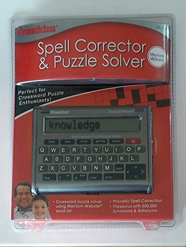 Franklin Merriam Webster Spelling Ace Pro & Puzzle Solver SA-309 by Franklin (Image #2)