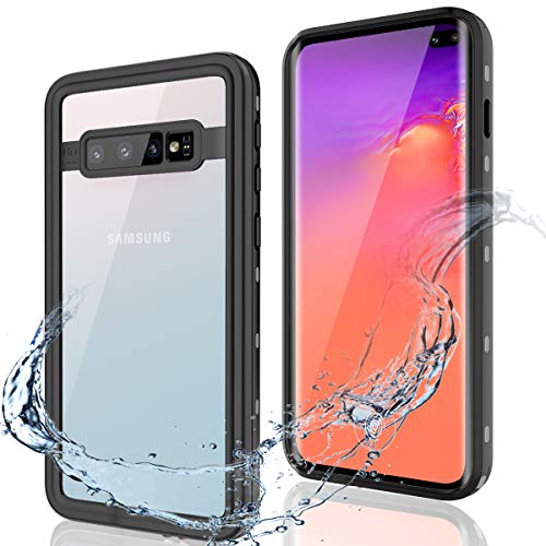 Galaxy S10 Plus Case, FXXXLTF Samsung S10 Plus Waterproof Case Clear, Ultra Hybird Anti-Drop Shockproof Snowproof Full Body Cover Cases for Samsung Galaxy S10 Plus 6.4 inch 2019