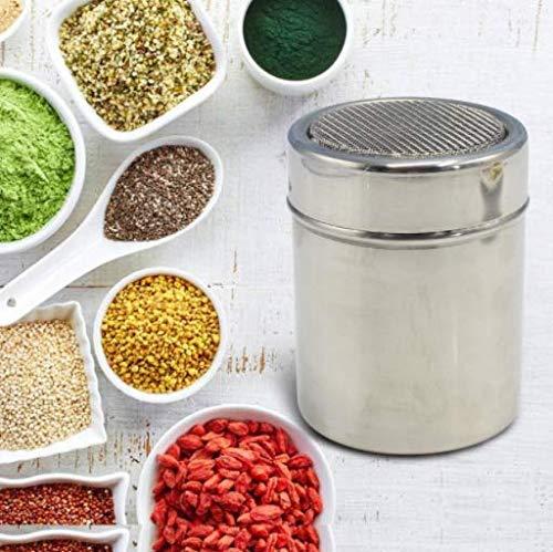 Stainless Steel Shaker Seasoning Cans - Dredge Salt/Sugar/Spice/Pepper Shaker for Kitchen Restaurant Barbecue