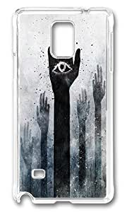 Samsung Galaxy Note 4 Case, Weird Illuminati All Seeing Eye Customize Design Case Cover for Samsung Galaxy Note 4 N9100 Plastic Hard Case Transparent