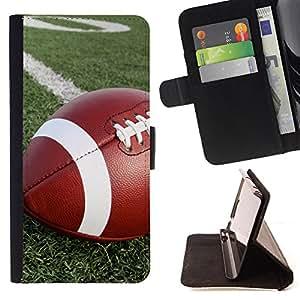 Dragon Case- Caja de la carpeta del caso en folio de cuero del tir¨®n de la cubierta protectora Shell FOR Samsung Galaxy G360 G3608 G3606- American Football