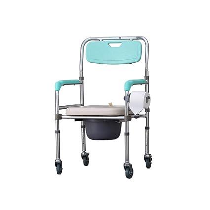 Con silla con ruedas silla con orinal, hombres viejos mujeres embarazadas asiento de inodoro a