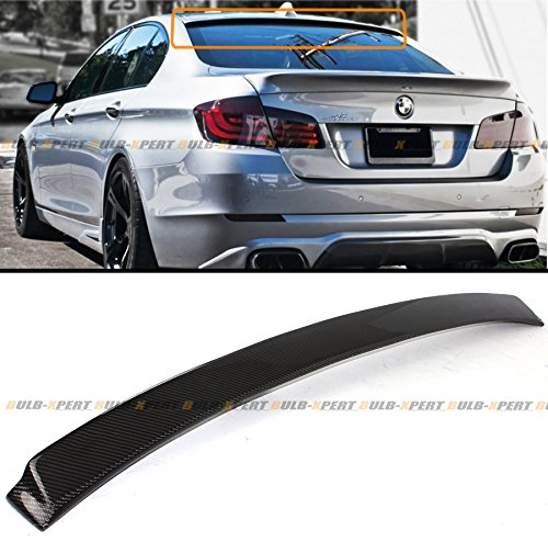 Cuztom Tuning Fits for 2011-2016 BMW F10 5 Series 535i 528i M5 AC Style Carbon Fiber Rear Window Roof Top Spoiler Wing ()