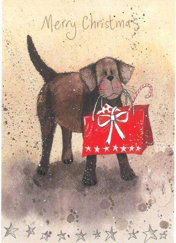 Chocolate Labrador Christmas Cards - Alex Clark Art Chocolate Labrador &