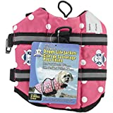 Paws Aboard PP1200 Fido Pet Products Doggy Life Jacket, X-Small, Pink Polka Dot