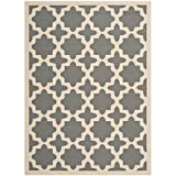 Safavieh Courtyard Collection CY6913-246 Anthracite and Beige Indoor/Outdoor Area Rug (9′ x 12′) Review