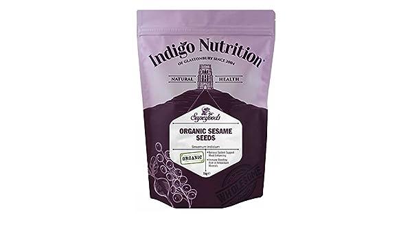 Indigo Herbs Semillas de Sésamo Orgánico 1kg: Amazon.es ...