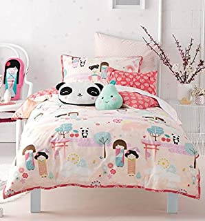 Baby Deer /& Friends Party Duvet Cover 110x150 cm /& Pillow Case 40x60 cm SoulBedroom 100/% Cotton Cot Bed Set