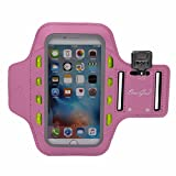 OemGod LED Armband for iPhone 6 Plus, iPhone 6, 6s, 5, 5s 5c and Samsung S4, S3, S2, HTC & Other Phones Smaller than 6¡± & iPod MP3 Player, Water-Resistant, Sweat-Proof, Dual Arm-Size Slots with Key Pocket + Card Holder, 3 LED Modes Safeguard for Running, Jogging, Cycling in the Dark, S.O.S. Signal in Emergency